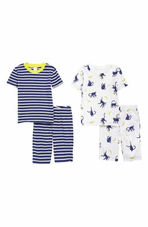 c824da525f90 Mini Boden 2-Pack Fitted Two-Piece Short Pajamas (Toddler Boys