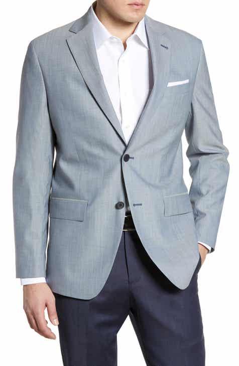 0605e15730e Nordstrom Men s Shop Tech-Smart Trim Fit Stretch Wool Travel Sport Coat