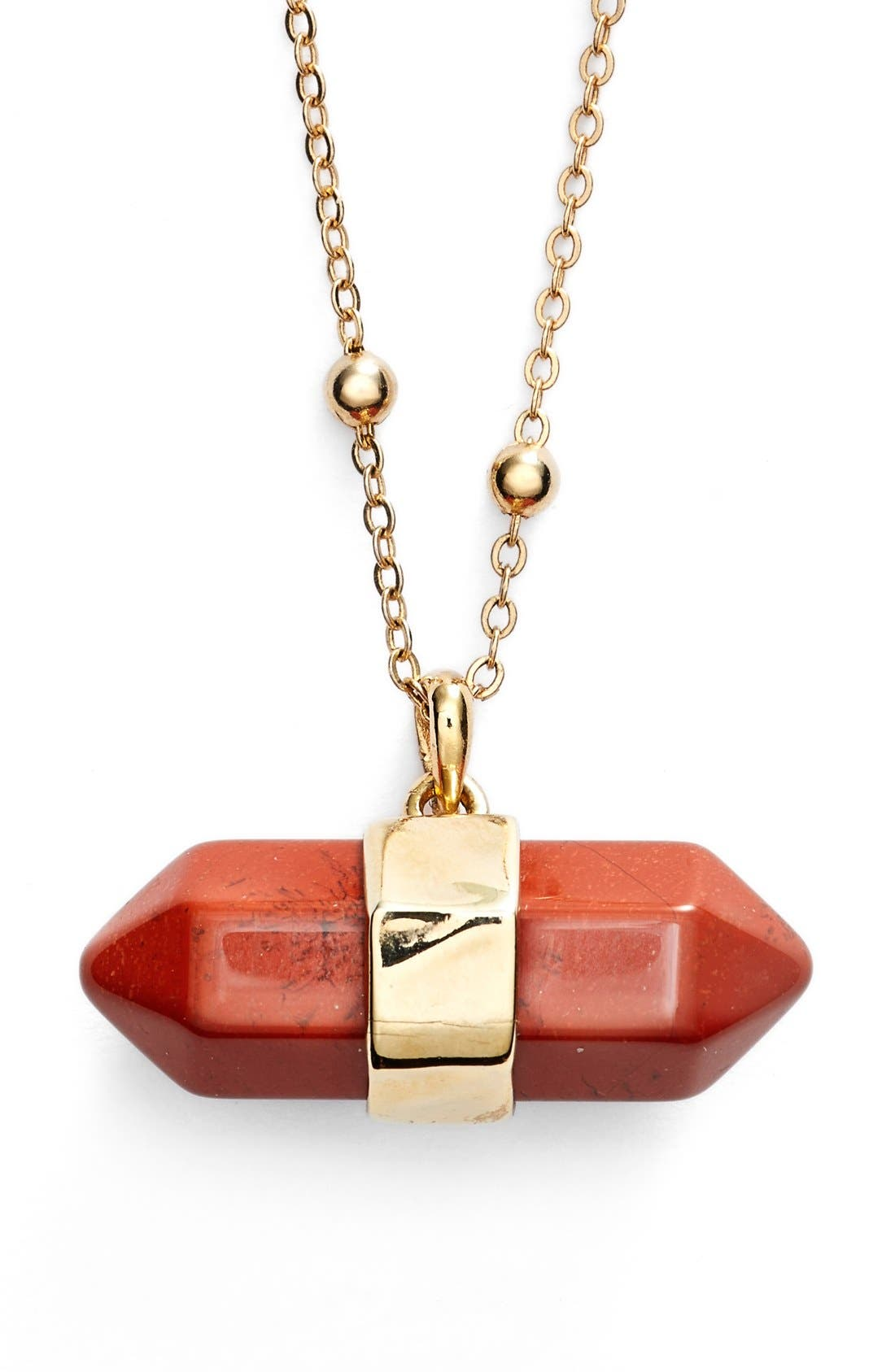 Alternate Image 1 Selected - Nordstrom Semiprecious Stone Pendant Necklace