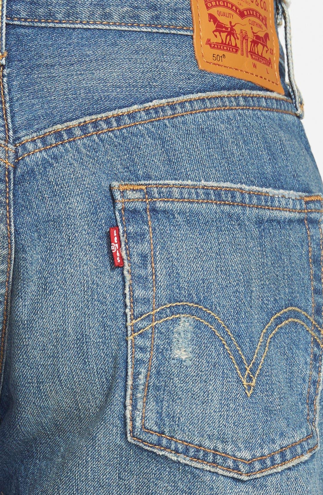 Alternate Image 3  - Levi's® '501® 'Boomtown' Denim Cutoffs (Blue)