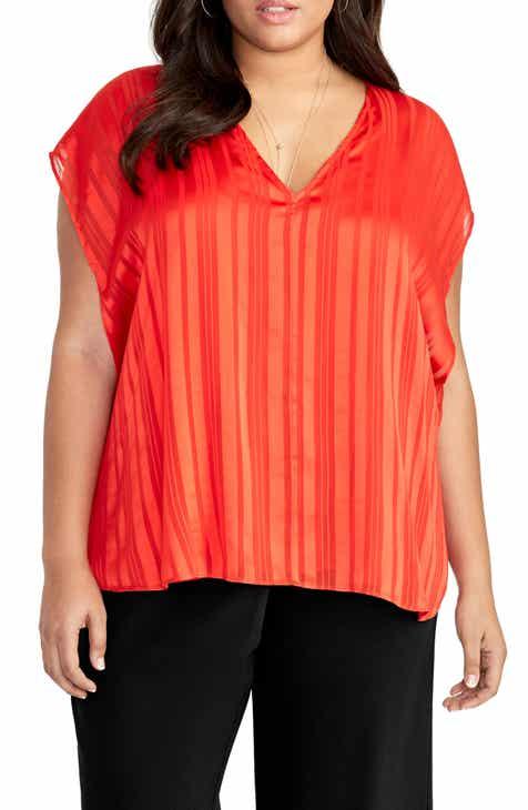 55d418822e244f RACHEL Rachel Roy May Cape Top (Plus Size)