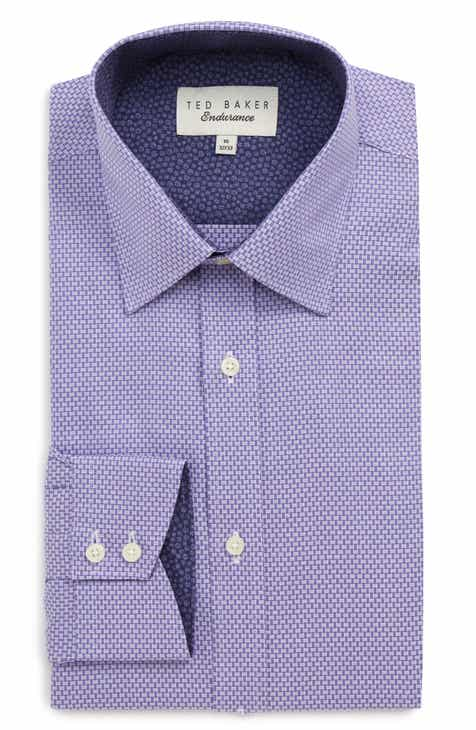 cae581c7c Ted Baker London Endurance Slim Fit Geometric Dress Shirt
