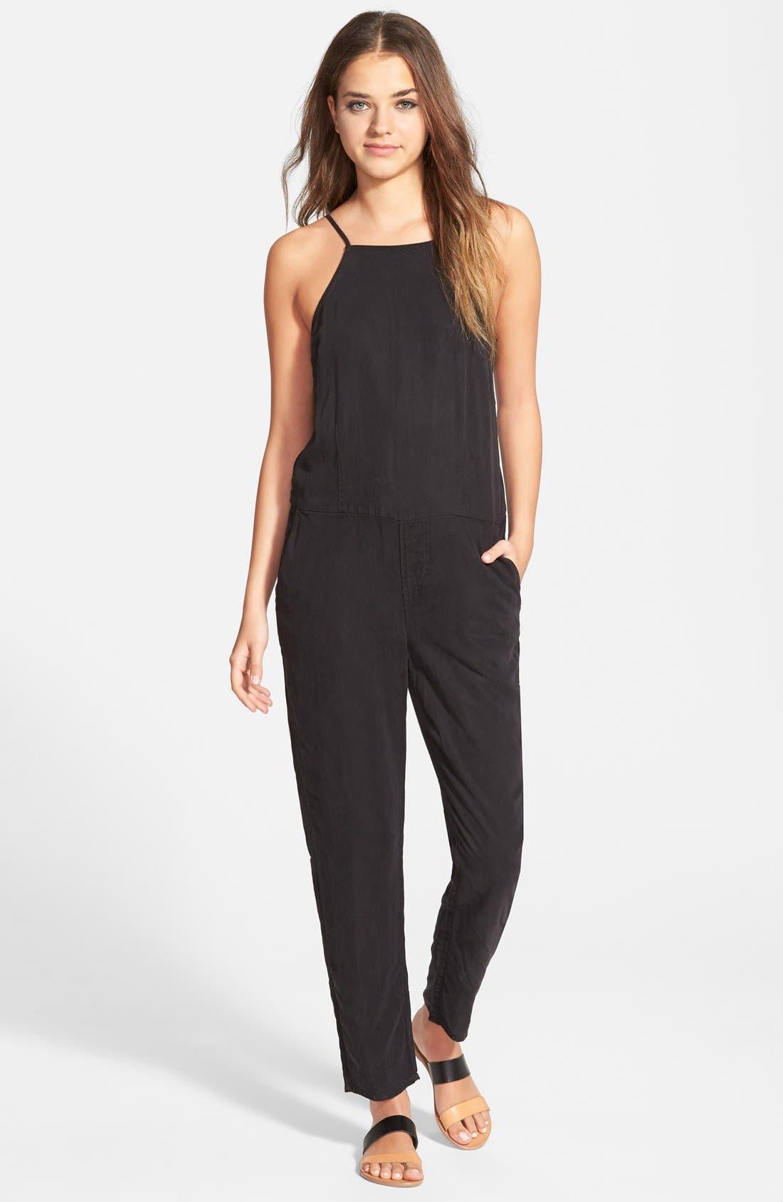 Alternate Image 1 Selected - Paige Denim 'Anjelica' Sleeveless Jumpsuit (Black Overdye)