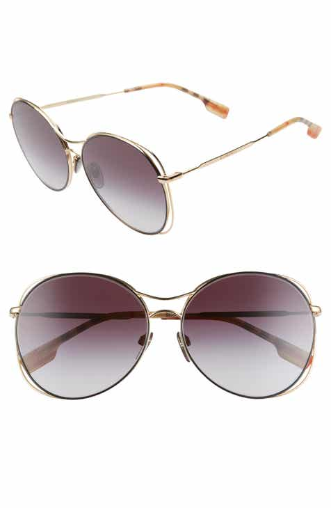 56ebb0d5707f Burberry 60mm Gradient Round Sunglasses