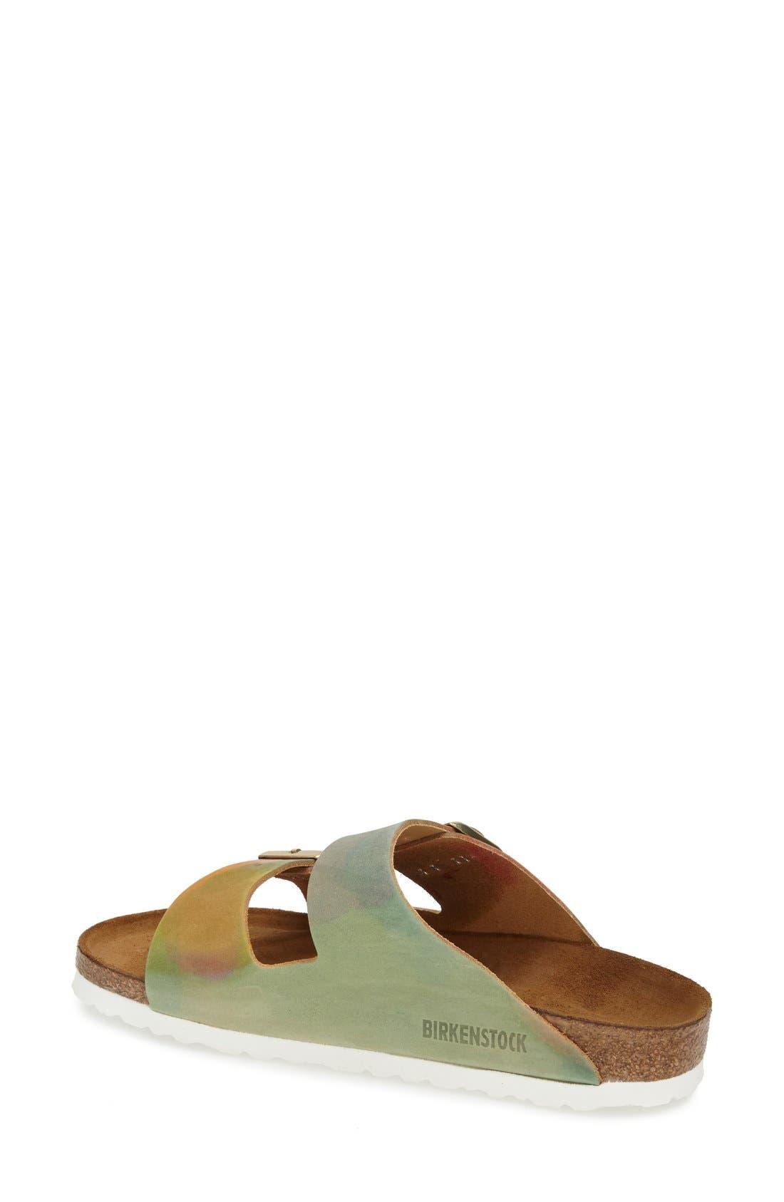 Alternate Image 2  - Birkenstock 'Arizona' Nubuck Leather Sandal (Women)