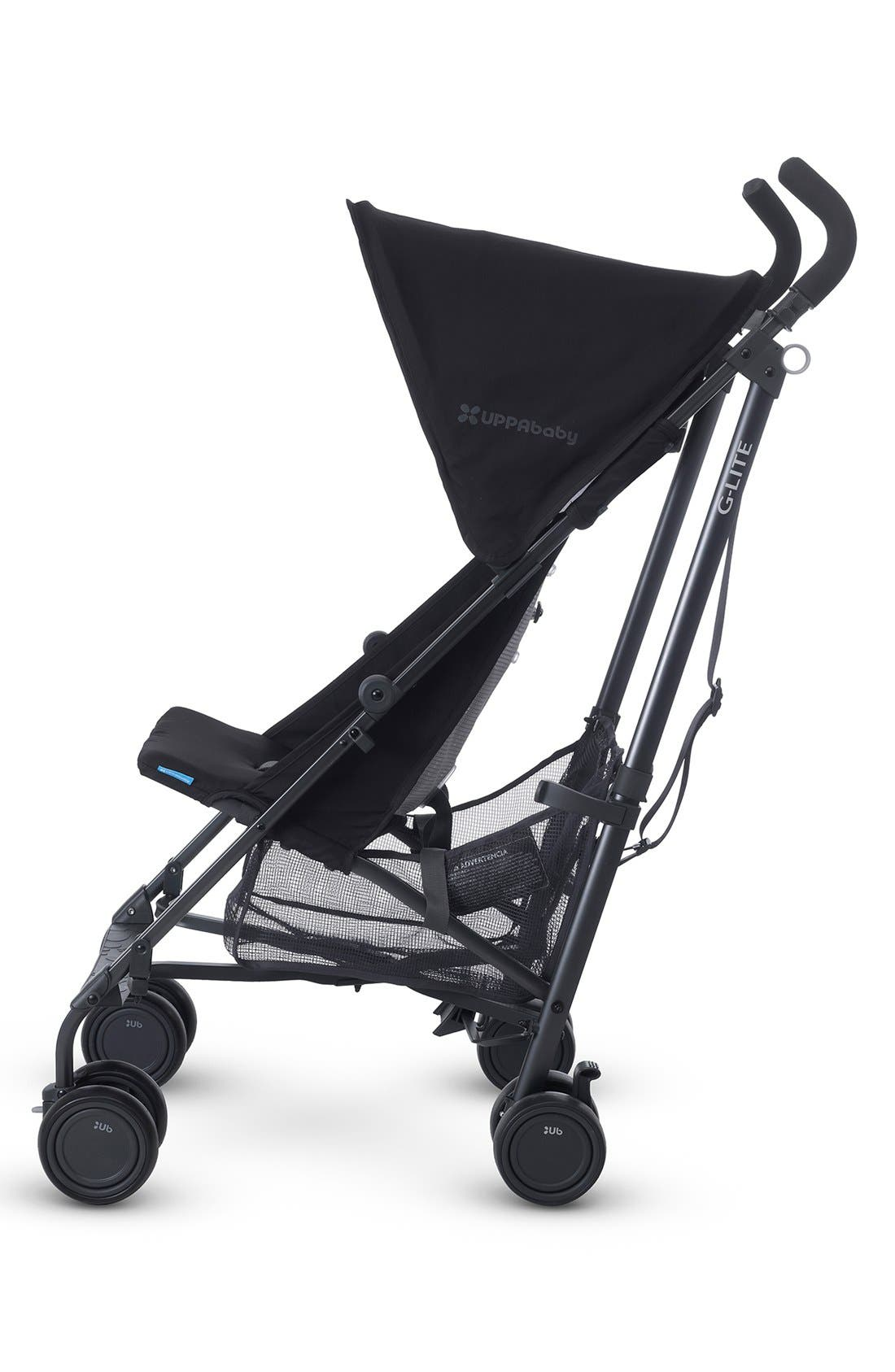 G-LITE - Black Frame Stroller,                             Alternate thumbnail 4, color,                             Jake Black/ Carbon