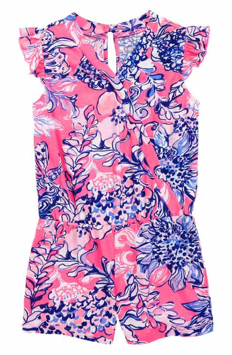 Lilly Pulitzer® Romee Print Romper (Toddler Girls, Little Girls & Big Girls)