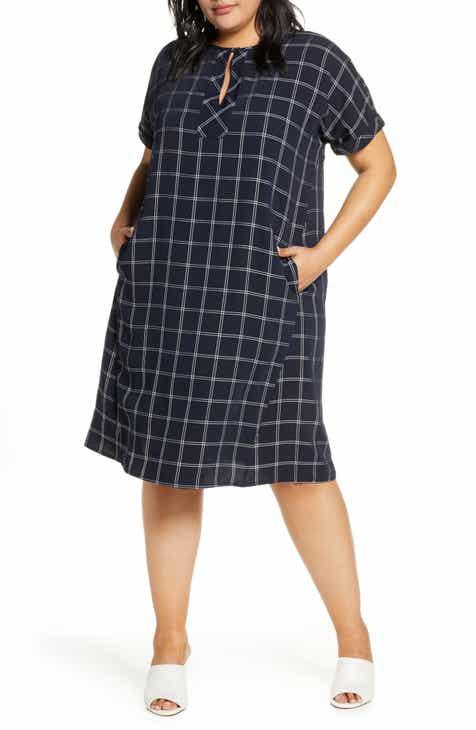 367a3d0ba4c Marina Rinaldi Dublino Check Shift Dress (Plus Size)