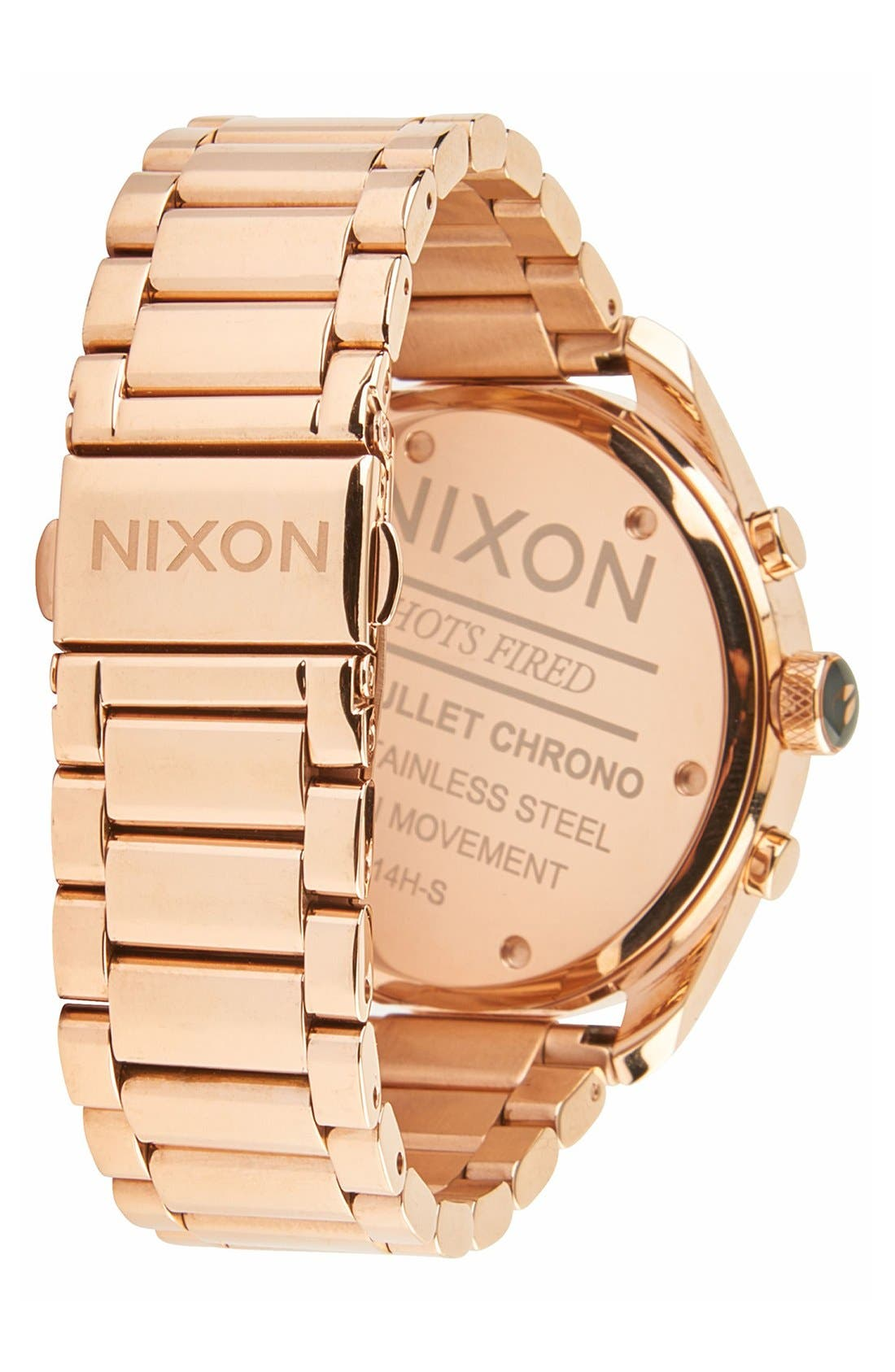 Alternate Image 2  - Nixon 'Bullet' Guilloche Chronograph Bracelet Watch, 42mm