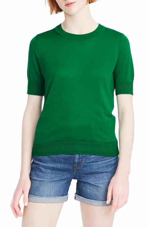 2e21ea6fe09 J.Crew Short Sleeve Crewneck Tencel® Lyocell Blend Sweater (Regular   Plus  Size)