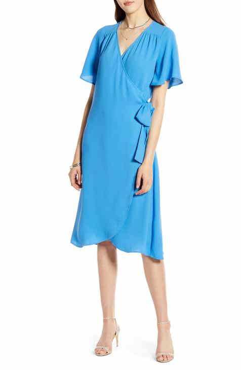 96fc5e077e Halogen® Wrap Dress (Regular   Petite)