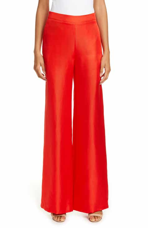 Brandon Maxwell Wide Leg Twill Trousers by BRANDON MAXWELL