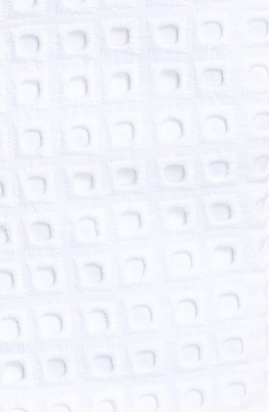Alternate Image 4  - Eliza J Cotton Eyelet Fit & Flare Dress (Regular & Petite)