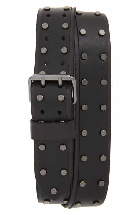 3ef23922822 ALLSAINTS Studded Leather Belt