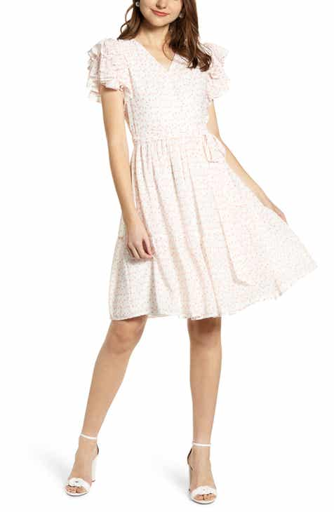 5a359b7b0ed Rachel Parcell Tiered Ruffle Sleeve Dress (Nordstrom Exclusive)