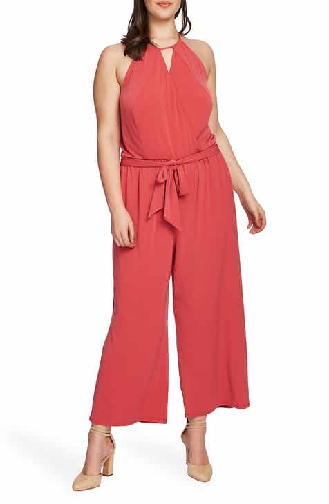 75091e6708 STATE Halter Neck Jumpsuit (Plus Size)
