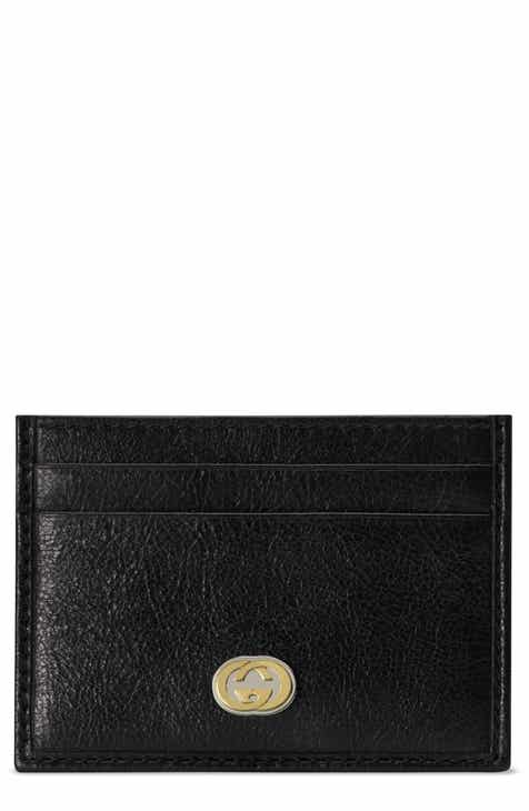 1c76365c4f9 Gucci New GG Leather Card Case