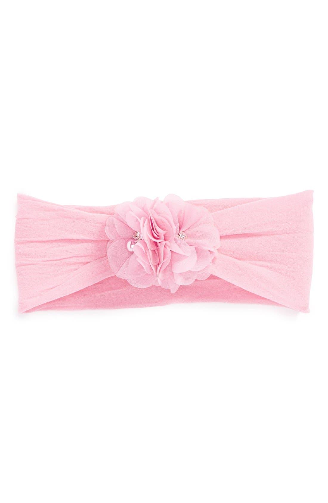 Main Image - Baby Bling Chiffon Bouquet Headband (Baby Girls)
