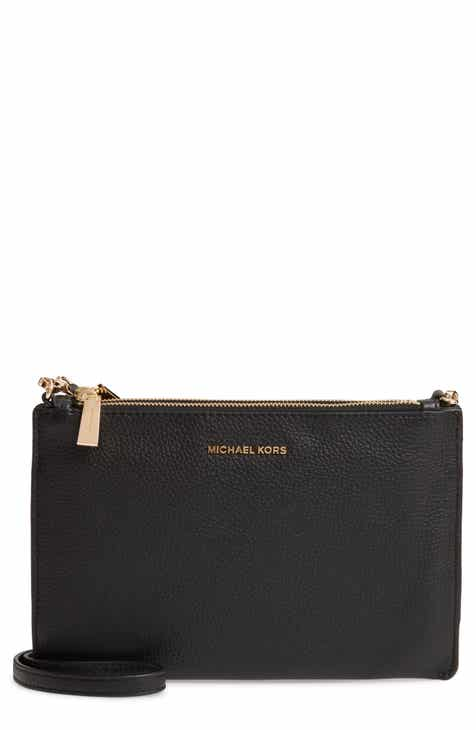 a2d28b9218d6 MICHAEL Michael Kors Leather Double Pouch Crossbody Bag