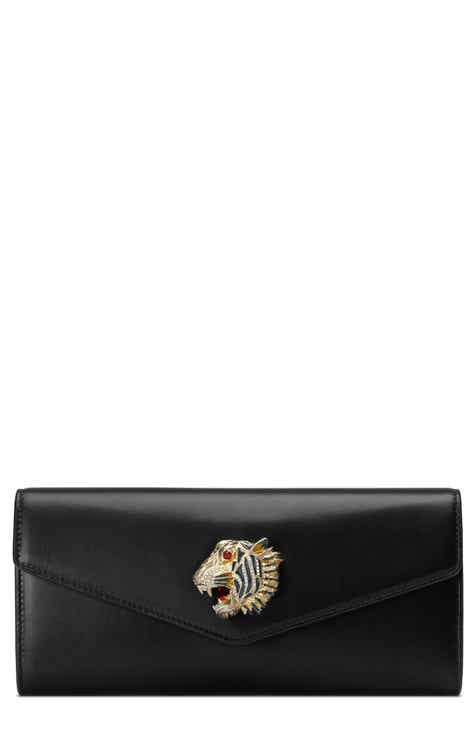e188c9bab43 Gucci Broadway Leather Clutch