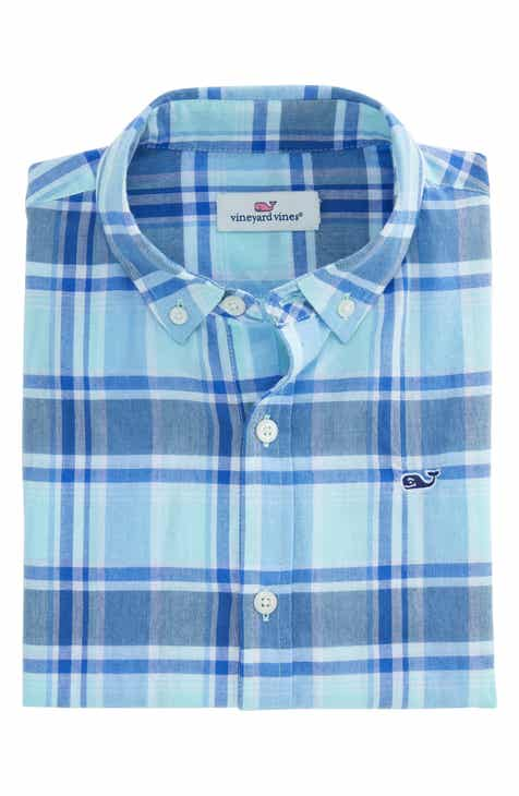 f4b4887c4 vineyard vines Madras Plaid Whale Woven Shirt (Toddler Boys & Little Boys)