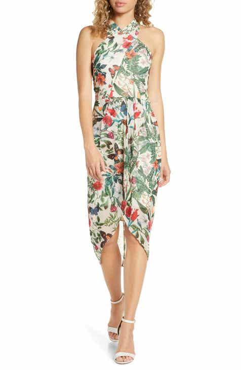 Cooper St Salsa Floral High Neck Drape Dress