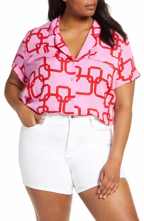 9179d35f Cavallo Notch Collar Button-Up Top (Plus Size)