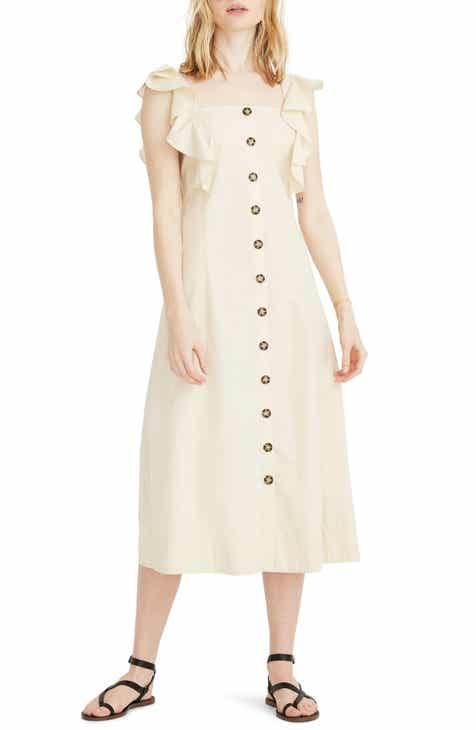Madewell Princess Seamed Midi Dress