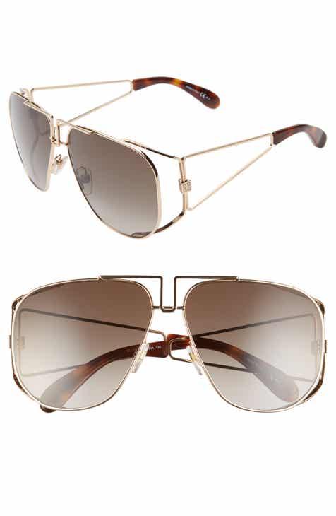 596525d6dd398 Givenchy 61mm Aviator Sunglasses