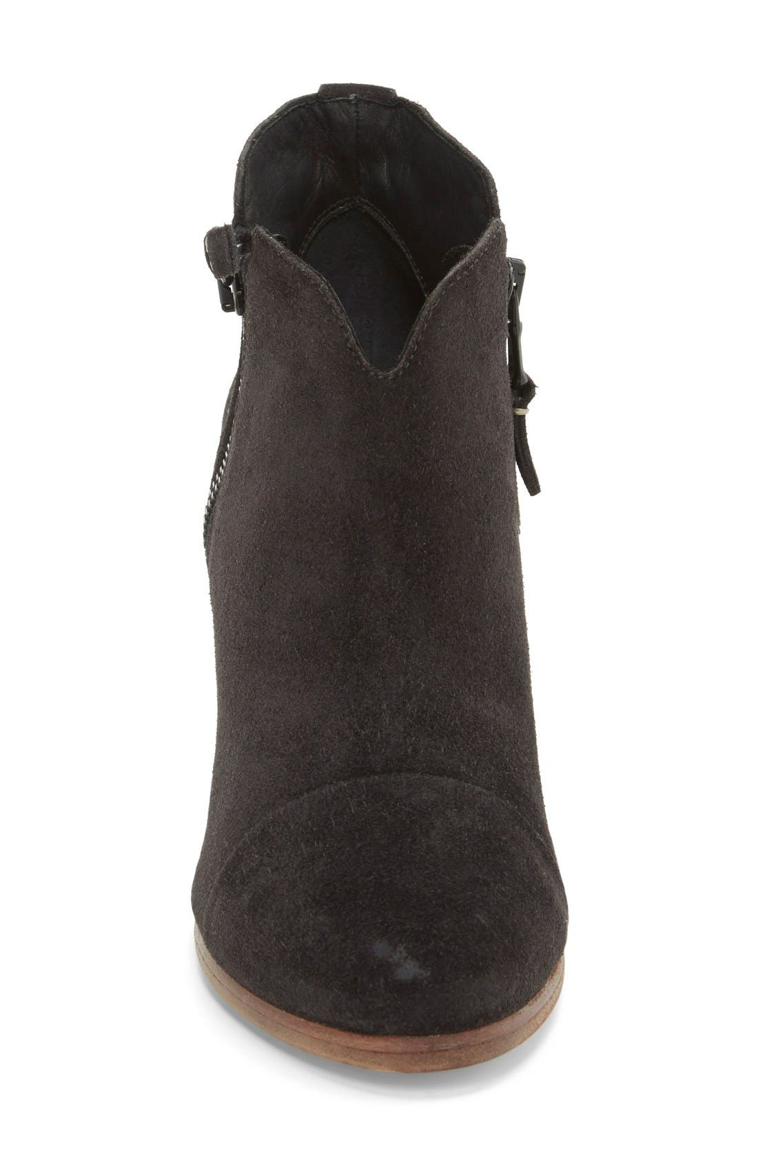 Margot Bootie,                             Alternate thumbnail 3, color,                             Black Waxed Suede