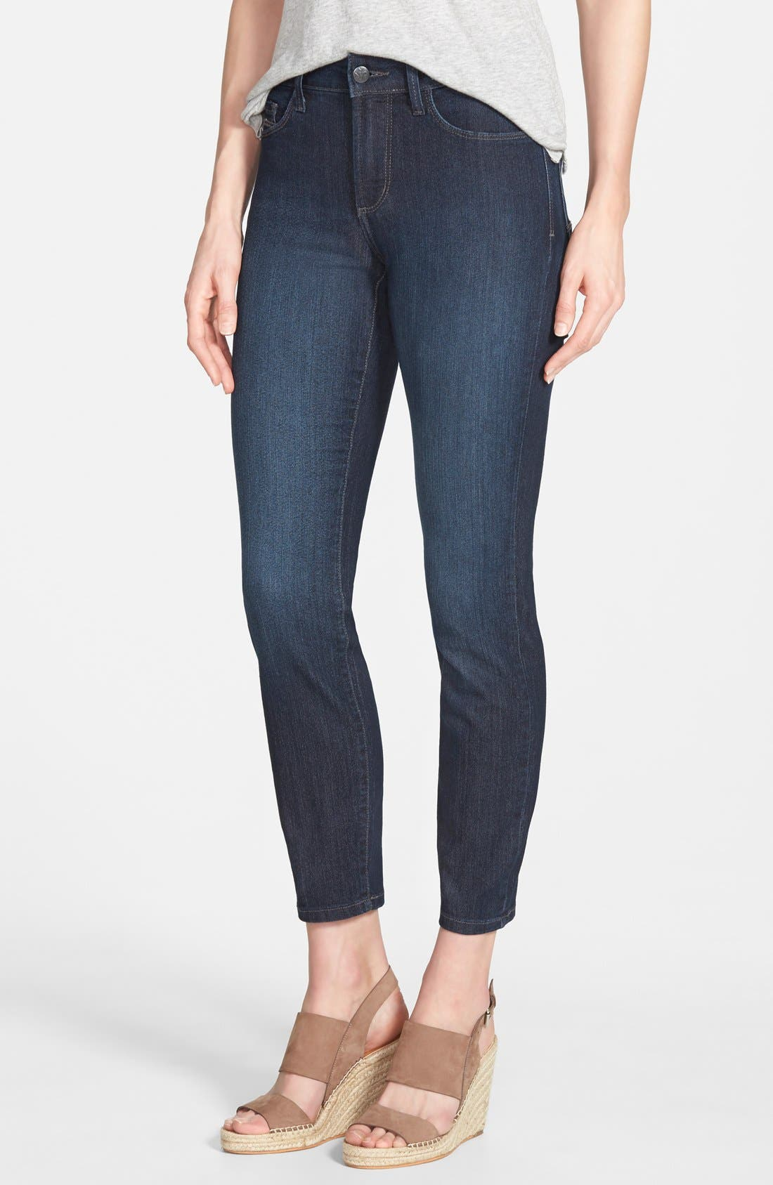 Alternate Image 1 Selected - NYDJ 'Clarissa' Stretch Ankle Skinny Jeans (Dark Enzyme) (Regular & Petite)