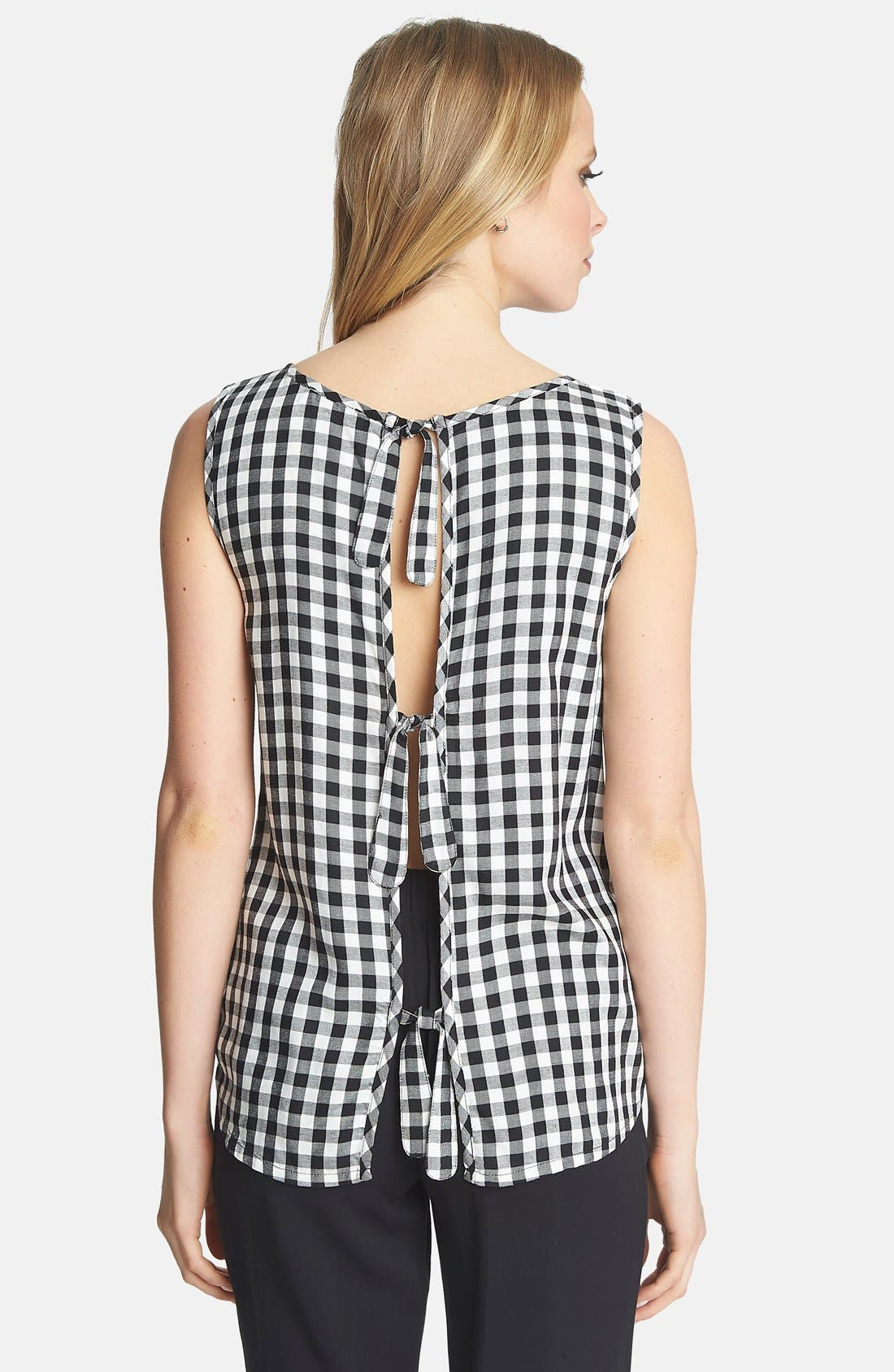 Alternate Image 2  - 1.STATE Tie Back Gingham Tank