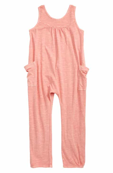 60879058e Stem Cross Back Sleeveless Jumpsuit (Toddler Girls, Little Girls & Big Girls )