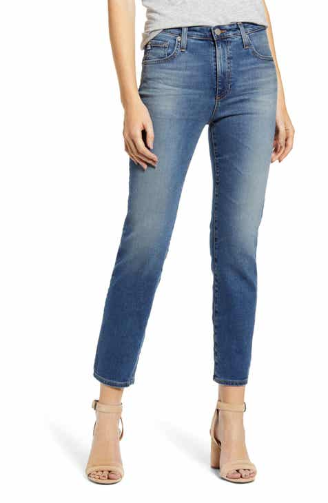 ee20bdd1e484 AG The Isabelle High Waist Crop Straight Leg Jeans (10 Years Cambria)