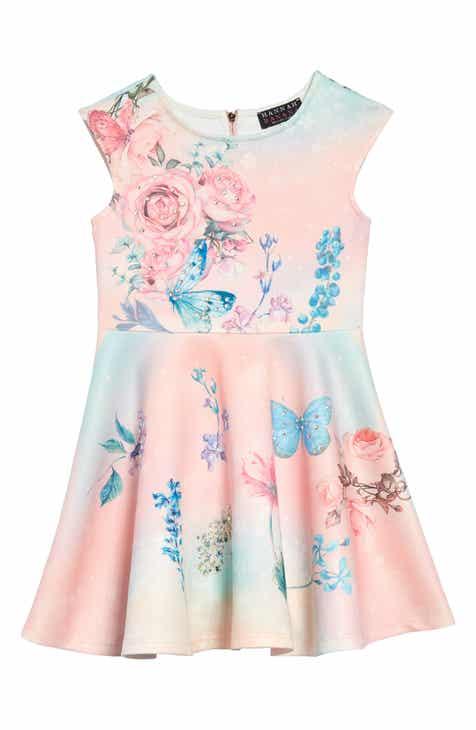 c4961fbbbbc Hannah Banana Floral Embellished Fit   Flare Dress (Toddler Girls   Little  Girls)