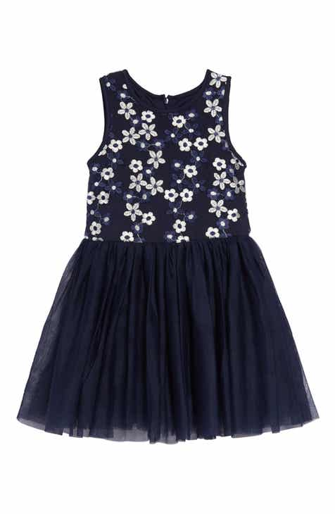 2b0a69ce3e Pastourelle by Pippa   Julie Daisy Embroidered Fit   Flare Dress (Toddler  Girls