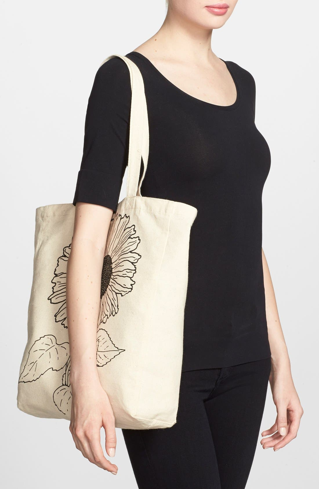 Alternate Image 2  - Tri-Coastal Design 'Sunflower' Canvas Tote