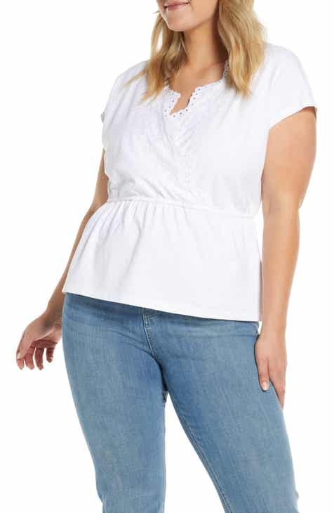 36efd5294 Caslon® Embroidered Peplum Top (Regular & Petite)