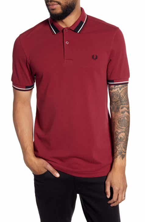 19a3371fc Fred Perry Abstract Collar Short Sleeve Piqué Polo
