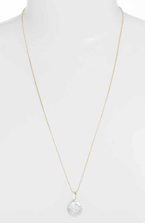 20a350cc7 Kendra Scott Priscilla Natural Pearl Pendant Necklace