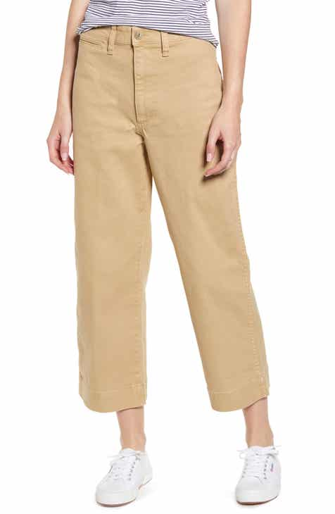 6d9f2bf57fbf Madewell Slim Emmett Wide Leg Crop Pants (Regular & Plus Size)