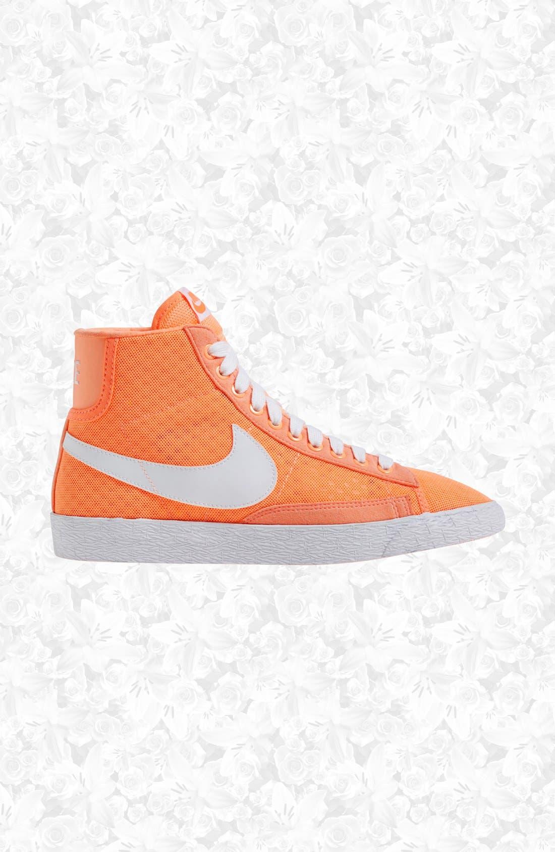 Main Image - Nike 'Blazer' Vintage High Top Mesh Sneaker (Women)