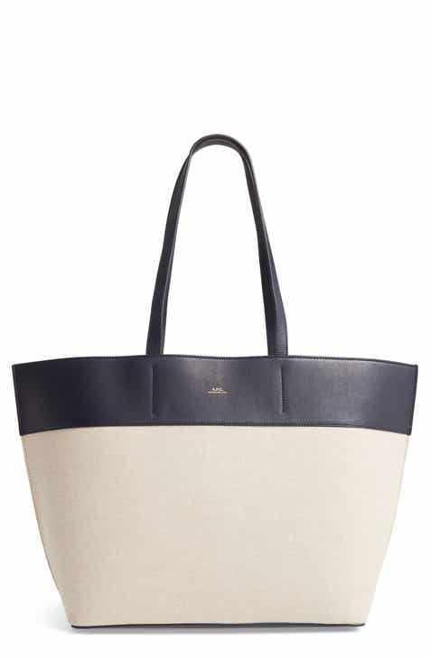 3cbd05ad4 A.P.C. Totally Leather & Canvas Tote Bag