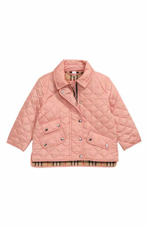 fa461e92d Burberry Brennan Water Resistant Diamond Quilted Jacket (Toddler Girls, Little  Girls & Big Girls)