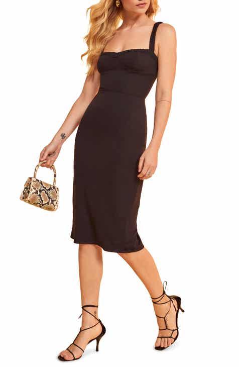 Reformation Napoli Sweetheart Neck Dress