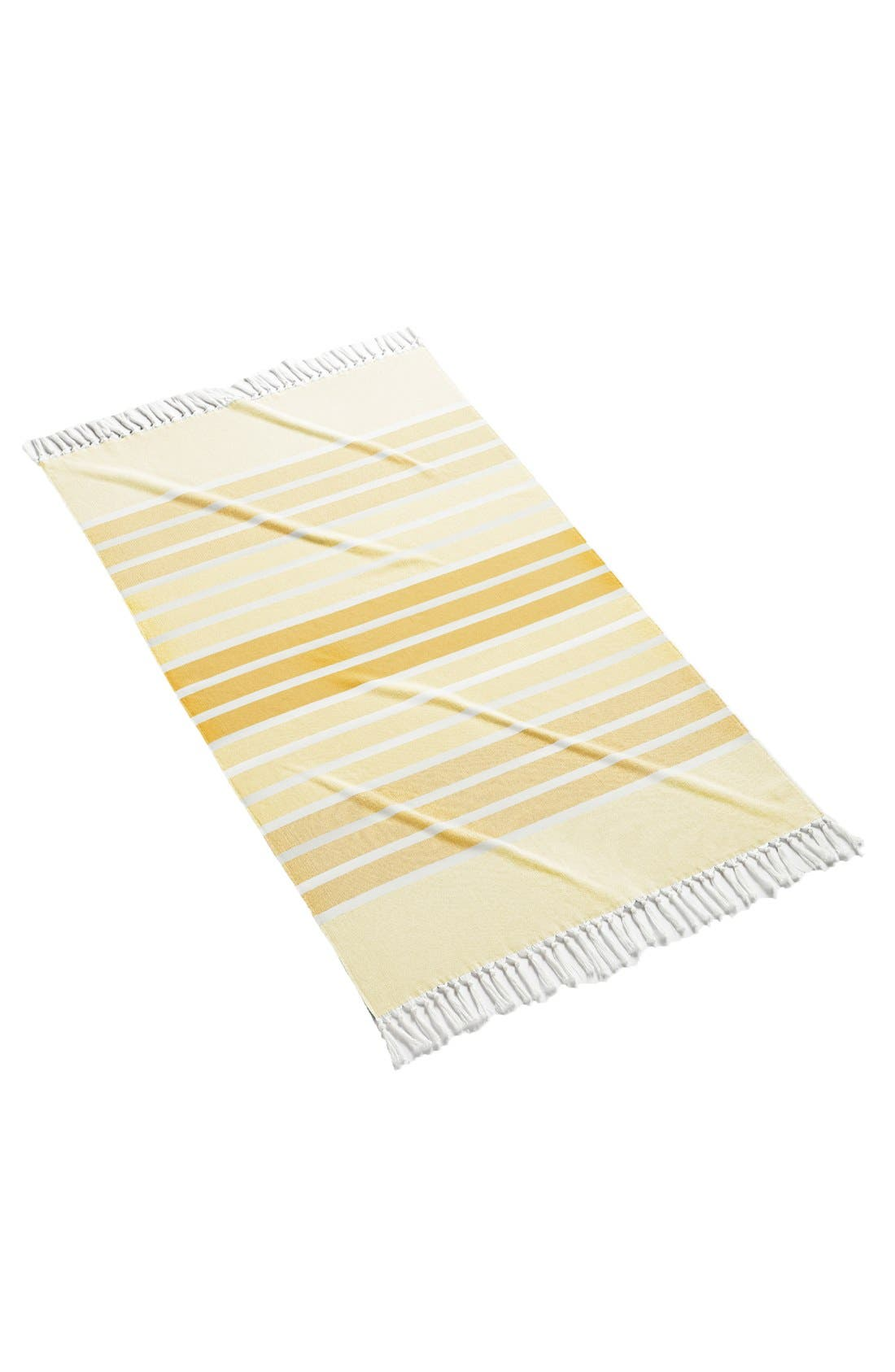 'Bodrum' Cotton Beach Towel,                         Main,                         color, Yellow