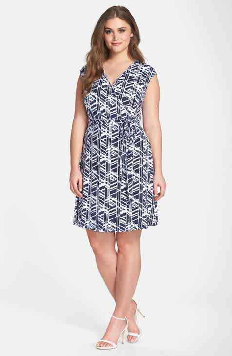 0ae08d78186 Tart  Charmaine  Print Strappy Wrap Dress (Plus Size)