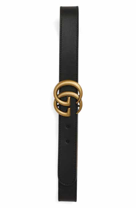 b4b41d14f Gucci Logo Leather Belt (Toddler, Little Kid & Big Kid)