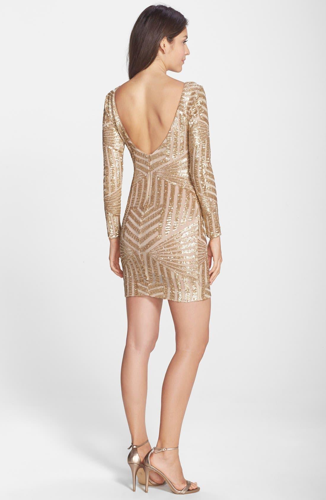 Alternate Image 2  - Dress the Population Lola Sequin Body-Con Dress