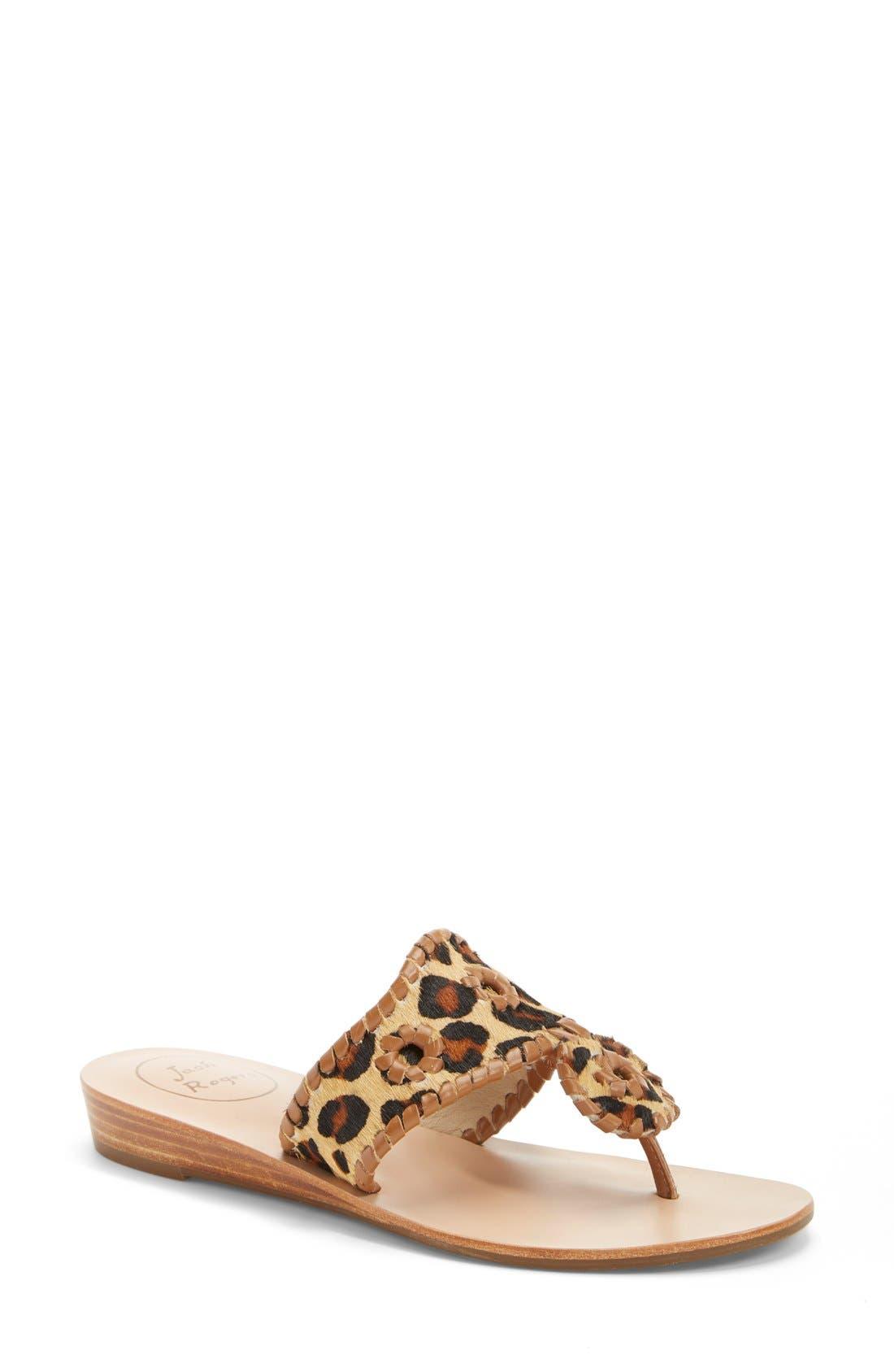 'Safari Capri' Sandal, Main, color, Leopard. '